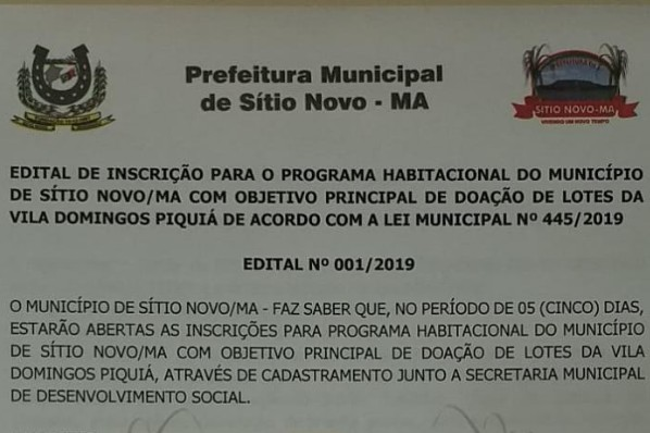 """O EDITAL NA INTEGRA EONCONTRA-SE NA ABA """"TRANSPARÊNCIA - LEIS"""""""